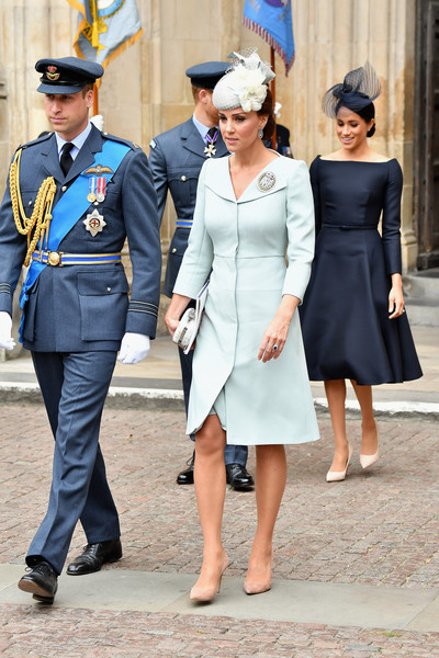 Kate's Pale Blue Coat Dress