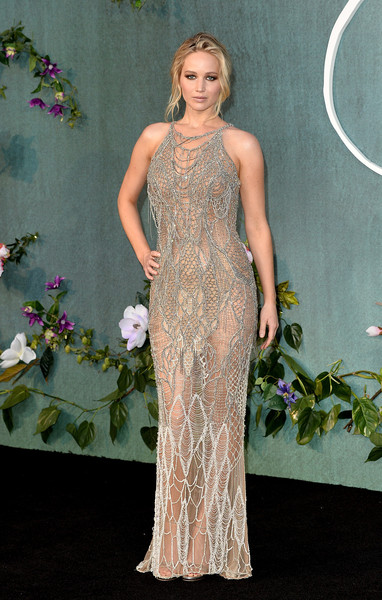 Jennifer Lawrence in Atelier Versace at a UK Premiere