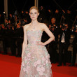 Elle Fanning's Rose Corset Dress