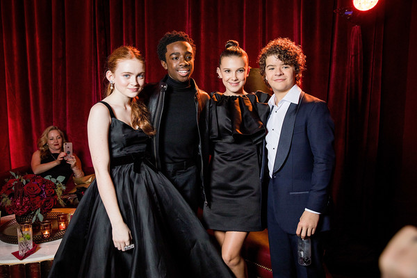 Millie and Sadie With the Boys At The 2018 Golden Globes After-Party