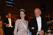 Princess Sofia of Sweden and Barry C.Barish, laureate of the Nobel Prize in physics attend the Nobel Prize Banquet 2017 at City Hall on December 10, 2017 in Stockholm, Sweden.
