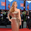 Amy Adams in Sequined Single-Sleeved Tom Ford