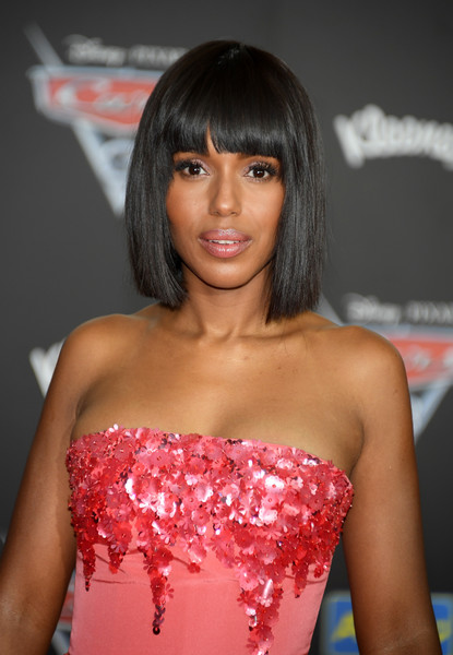 Kerry Washington's Blunt Bangs and Bob
