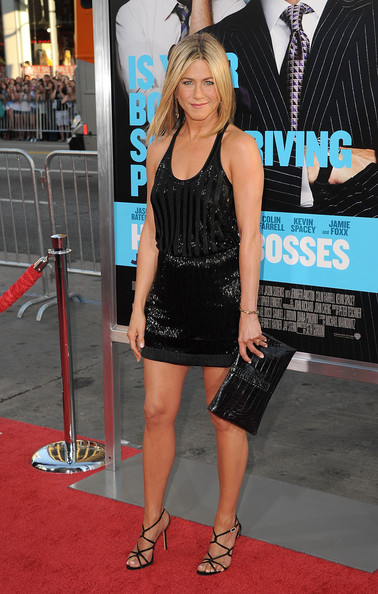Wearing Beaded Balenciaga At The 'Horrible Bosses' Premiere In Hollywood