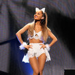 In Her Kitty Ears And An Embellished Matching Set At The 2014 Jingle Ball