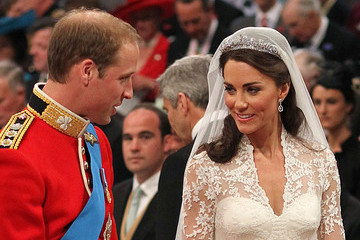 Kate Middleton Weds in Queen's Halo Cartier Tiara