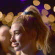 Hailey Baldwin's Scrunchie Ponytail at a TBS Premiere Party