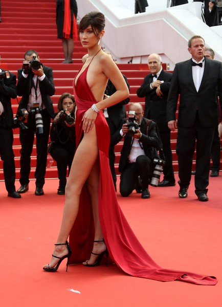 Bella Hadid in Alexandre Vauthier at the 2016 Cannes Film Festival