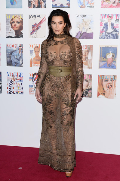 Wearing A Sheer, Embroidered Roberto Cavalli Gown At The Vogue 100 Festival Gala