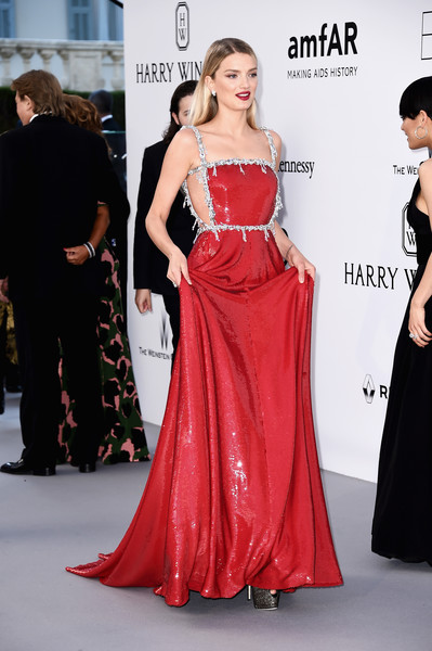 5cd77015bb7 Lily Donaldson - The Most Outrageous Looks at the amfAR Gala - Livingly