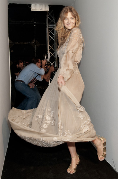 Alberta Ferretti at Milan Spring 2011 (Backstage)