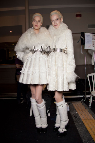 Alexander McQueen at Paris Fall 2012 (Backstage)