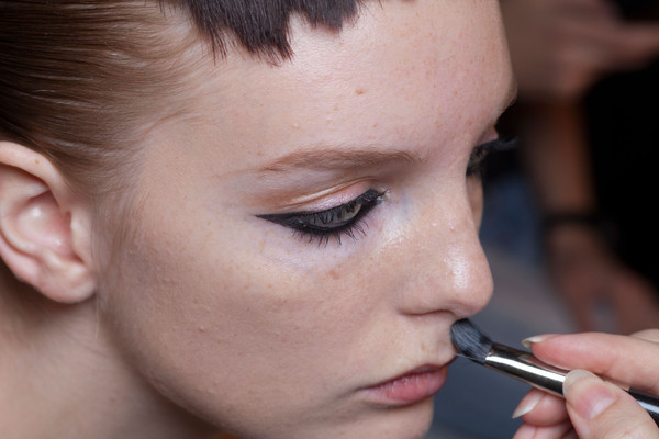 Aminaka Wilmont at London Spring 2013 (Backstage)