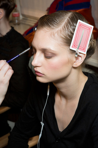 Angelo Marani at Milan Fall 2014 (Backstage)
