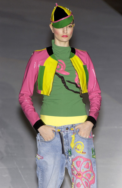 Antonio Marras at Milan Spring 2004 [yellow,clothing,fashion,jeans,outerwear,fashion design,costume,jacket,high-visibility clothing,headgear,jeans,human,antonio marras,fashion,yellow,runway,clothing,model,milan fashion week,fashion show,runway,fashion show,fashion,model,yellow,human]