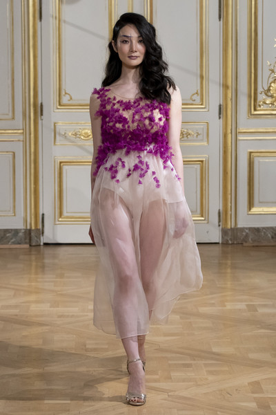 Armine Ohanyan at Couture Fall 2018 [clothing,fashion model,fashion,pink,haute couture,shoulder,dress,purple,leg,fashion design,armine ohanyan,couture fall,fashion,haute couture,fashion week,runway,shoulder,fashiontv,paris fashion week,fashion show,paris fashion week 2018,fashion show,runway,haute couture,fashion,fashion week,fashiontv,lofficiel]
