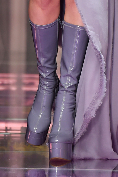 Atelier Versace at Couture Fall 2015 (Details) [footwear,fashion,purple,human leg,leg,haute couture,joint,boot,shoe,material property,couture fall,atelier versace,fashion,boot,haute couture,plateau,riding boot,wedge,shoe,high-heeled shoe,boot,riding boot,fashion,versace,plateau,haute couture,shoe,wedge,shoe]