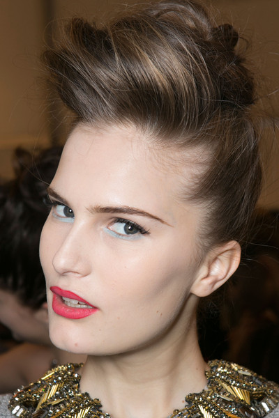 Badgley Mischka at New York Fall 2013 (Backstage)