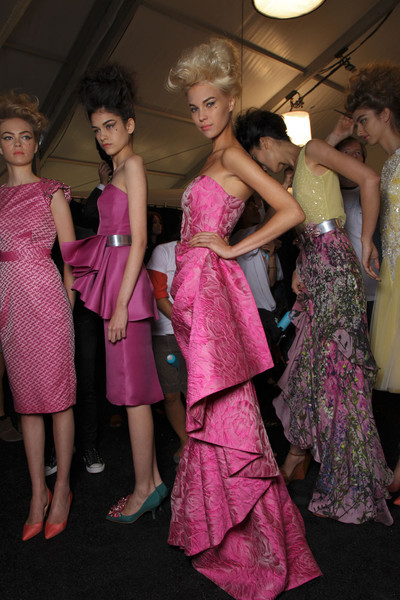 Badgley Mischka at New York Spring 2012 (Backstage)