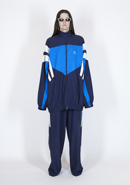 Balenciaga at Paris Spring 2021 [clothing,blue,standing,outerwear,fashion,costume,shoulder,electric blue,joint,mantle,outerwear,fashion,clothing,fashion week,costume,shoulder,balenciaga,chanel,paris fashion week,fashion show,paris fashion week,balenciaga,fashion,fashion show,chanel,ready-to-wear,clothing,fashion week,spring]