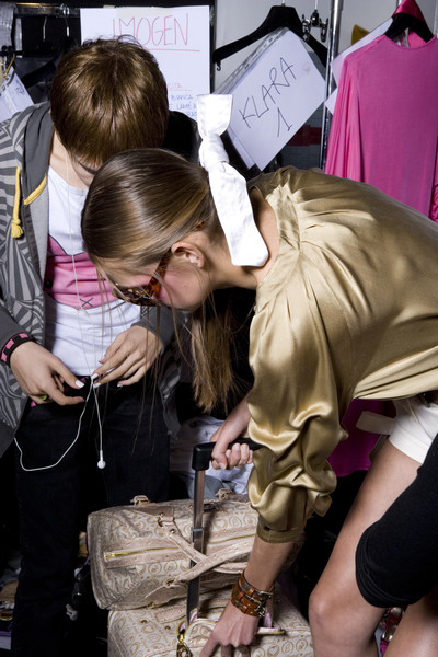 Blugirl at Milan Spring 2009 (Backstage)