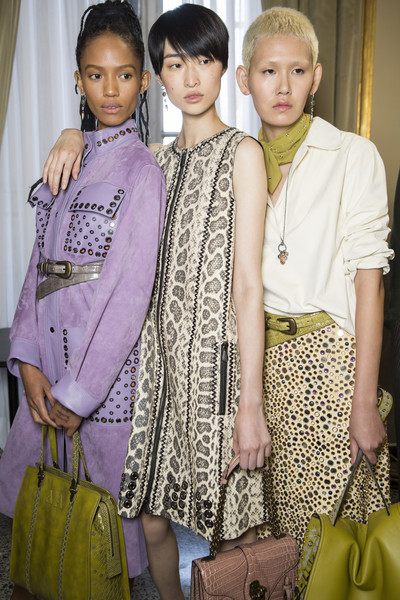 Backstage at Bottega Veneta