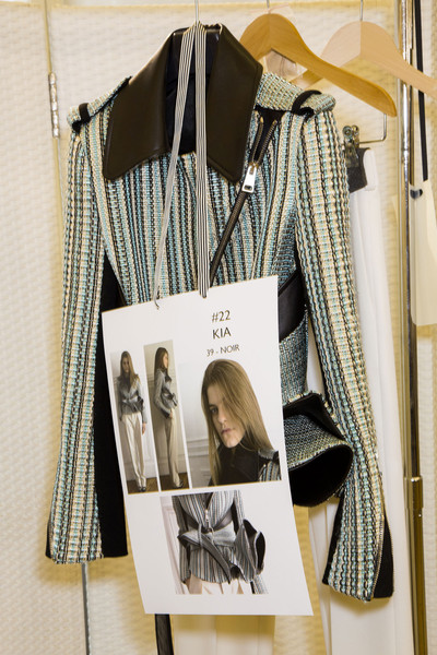 Bouchra Jarrar at Couture Fall 2014 (Backstage) [clothes hanger,clothing,pattern,room,dress,design,closet,fashion design,black-and-white,couture fall,clothes hanger,clothing,fashion design,pattern,closet,design,shelf,fashion,clothes hanger,closet,shelf,interior design services,fashion design,pattern,fashion,clothing,design,m boutique,bouchra jarrar]