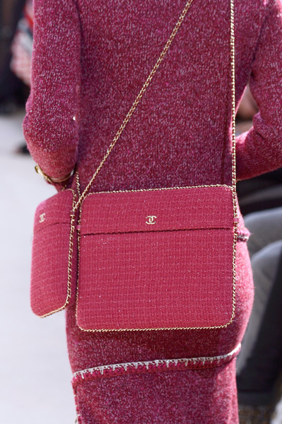 Chanel at Paris Fall 2016 (Details) [pink,red,magenta,fashion,outerwear,joint,haute couture,sleeve,dress,fashion accessory,fashion accessory,bag,handbag,fashion,clothing,pink,red,haute couture,chanel,paris fashion week,chanel,handbag,fashion,fashion accessory,clothing,bag,autumn,louis vuitton]