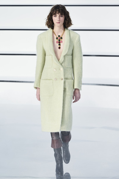 Chanel at Paris Fall 2020 [clothing,fashion model,fashion,fashion show,outerwear,overcoat,runway,neck,haute couture,formal wear,outerwear,virginie viard,runway,fashion,haute couture,fashion week,neck,chanel,paris fashion week,fashion show,virginie viard,runway,chanel,fashion show,fashion week,fashion,ready-to-wear,paris fashion week 2019,haute couture]
