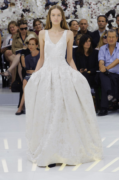 Christian Dior at Couture Fall 2014 [fashion model,fashion,haute couture,dress,clothing,gown,fashion show,shoulder,runway,wedding dress,gown,christian dior,zuhair murad,couture fall,wedding dress,fashion,haute couture,clothing,elie saab,fashion show,elie saab,zuhair murad,raf simons,jean paul gaultier,haute couture,dior,wedding dress,chanel,fashion]