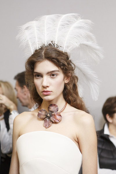 Backstage at Christian Dior Couture