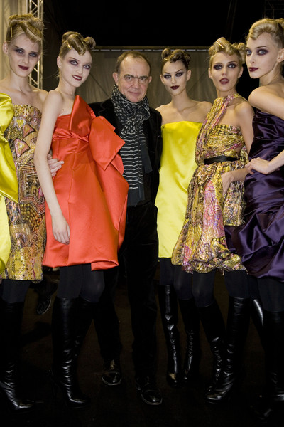 Christian Lacroix at Paris Fall 2008 (Backstage) [fashion,yellow,fashion design,fashion model,event,haute couture,fun,dress,model,performance,christian lacroix,supermodel,fashion,haute couture,model,fashion week,runway,fashion model,paris fashion week,fashion show,christian lacroix,haute couture,paris fashion week,fashion,runway,fashion show,fashion week,model,supermodel,autumn]