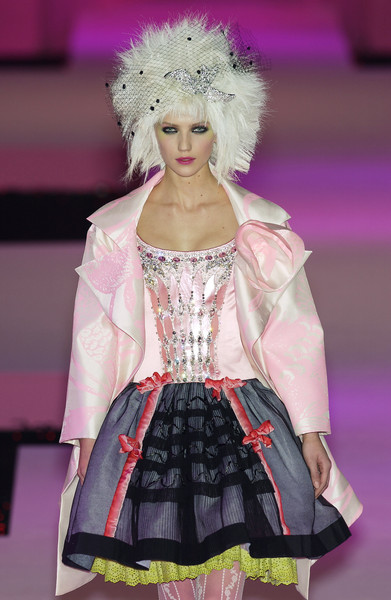 Christian Lacroix at Couture Spring 2003 [fashion photography,fashion,clothing,fashion model,fashion show,runway,pink,haute couture,fashion design,event,blond,christian lacroix,supermodel,fashion,clothing,haute couture,runway,model,couture spring 2003,fashion show,fashion show,runway,haute couture,fashion,model,clothing,supermodel,fashion photography,dress,figurino]