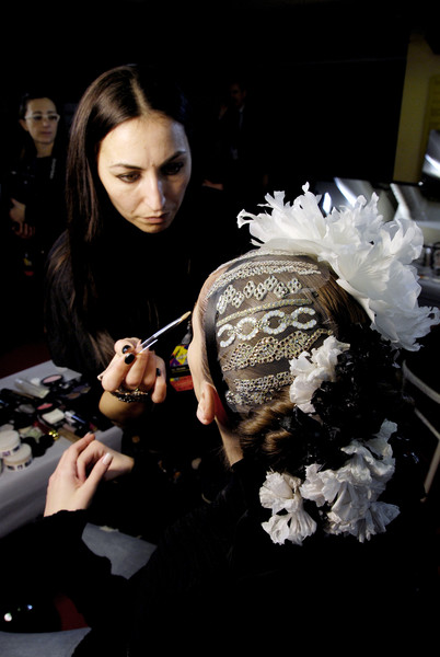 Christian Lacroix at Couture Spring 2008 (Backstage)