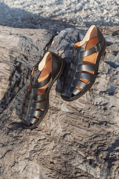 Church S at London Spring 2021 (Details) [footwear,shoe,sand,sandal,tree,wildlife,photography,hiking boot,landscape,camouflage,shoe,footwear,hiking boot,sand,soil,water,photography,church s,sandal,london fashion week,shoe,sandal,soil,water]