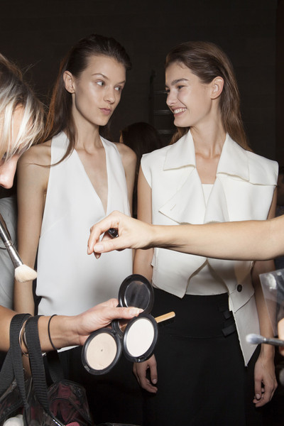 Costume National at Milan Spring 2014 (Backstage)