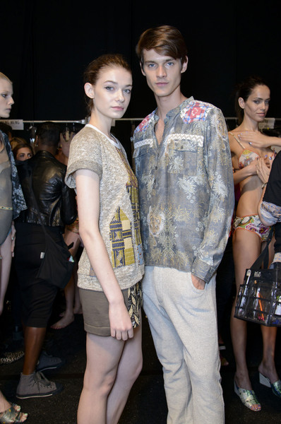 Custo Barcelona at New York Spring 2014 (Backstage)