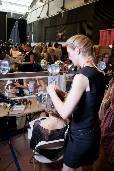 DKNY at New York Spring 2013 (Backstage)