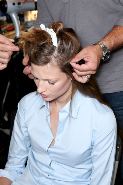 Diane von Furstenberg at New York Spring 2013 (Backstage)