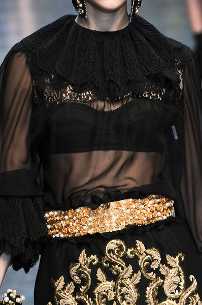 Dolce & Gabbana at Milan Fall 2012 (Details)