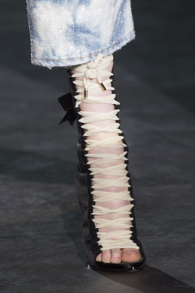 Dsquared² at Milan Spring 2017 (Details) [fashion,runway,leg,joint,footwear,haute couture,shoe,ankle,human leg,fashion design,fashion,runway,haute couture,leg,dsquared,product,brand,merchandising,model,milan fashion week,runway,fashion,haute couture,model,dsquared\u00b2,product,brand,merchandising]