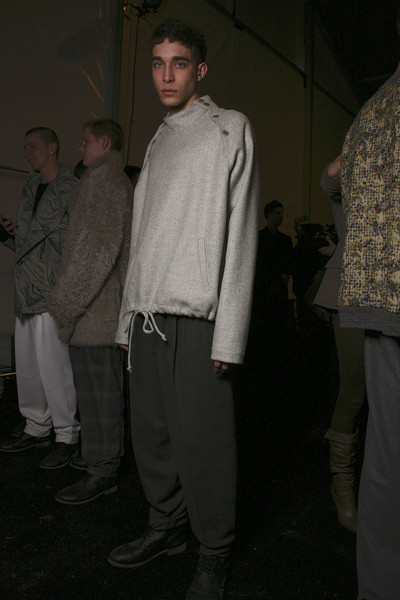 Duckie Brown at New York Fall 2011 (Backstage)