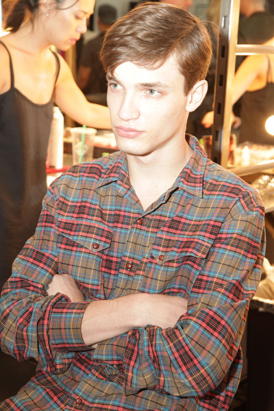 Duckie Brown at New York Spring 2012 (Backstage)