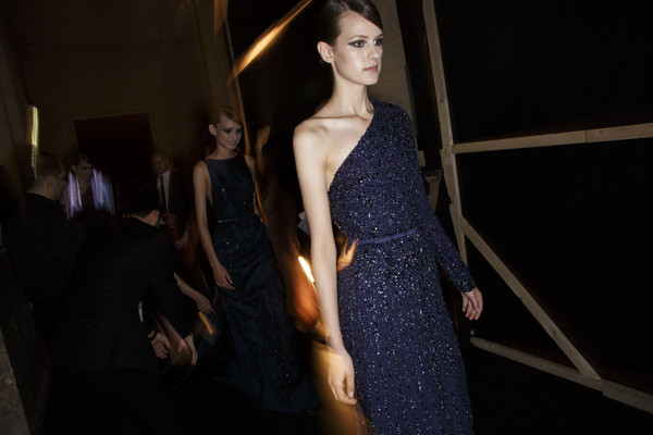 Elie Saab at Couture Fall 2013 (Backstage)