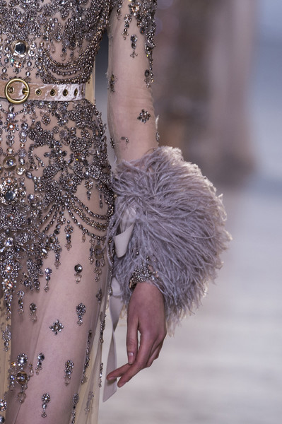 Elie Saab at Couture Spring 2017 (Details) [fashion,haute couture,shoulder,dress,water,joint,fashion design,gown,dress,fashion,haute couture,embroidery,runway,lace,clothing,water,elie saab,couture spring 2017,haute couture,fashion,embroidery,runway,ruffle,paris fashion week,dress,lace,clothing,valentino]