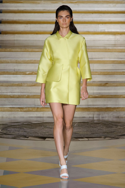 Emilia Wickstead at London Spring 2015 [fashion model,fashion show,fashion,clothing,runway,yellow,haute couture,shoulder,fashion design,neck,emilia wickstead,fashion,runway,fashion week,vogue,clothing,yellow,london fashion week,fashion show,milan fashion week,runway,london fashion week,emilia wickstead,milan fashion week,fashion show,fashion,fashion week,vogue,topshop unique - london fashion week 2017,supermodel]