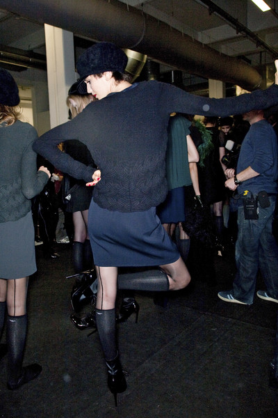 Emporio Armani at Milan Fall 2009 (Backstage)