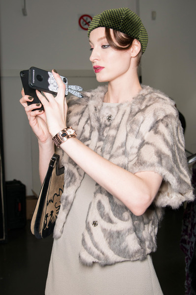 Emporio Armani at Milan Fall 2013 (Backstage)
