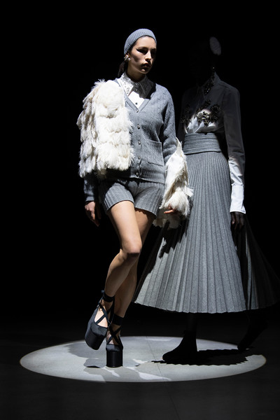Erdem at London Fall 2021 [shoe,hairstyle,leg,human body,entertainment,performing arts,style,thigh,fashion design,stage,shoe,fashion,clothing,fur clothing,fur,haute couture,runway,fashion model,london fashion week,fashion show,fashion show,fur clothing,runway,shoe,haute couture,clothing,fashion,fashion model,fur,gentleman]