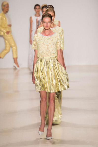 Erin Fetherston at New York Spring 2015 [fashion show,fashion model,fashion,runway,clothing,fashion design,yellow,dress,haute couture,public event,cocktail dress,gown,supermodel,socialite,runway,fashion,haute couture,model,new york fashion week,fashion show,runway,fashion show,model,haute couture,fashion,supermodel,cocktail dress,gown,socialite,two pence]